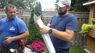 Replacing Residential Eavestroughs and Downspouts
