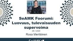 SeAMK Foorumi: Luovuus, tulevaisuuden supervoima (Rosa Meriläinen)