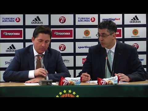 Euroleague Post - Game Press Conference: Panathinaikos Superfoods vs Crvena Zvezda MTS Belgrade