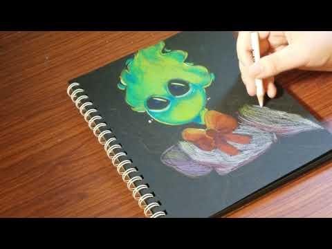 drawing on black paper! [fuku fire speed draw]