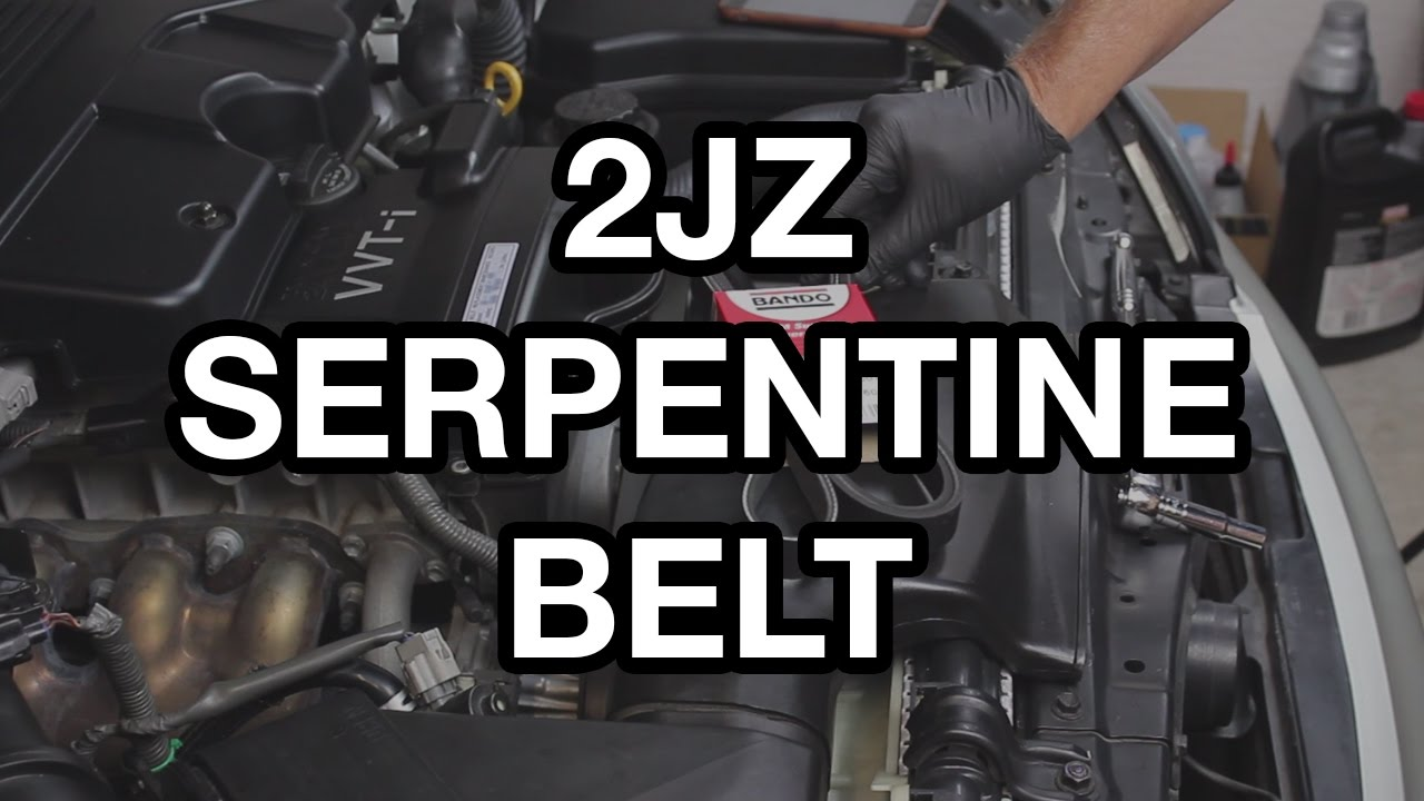 2jz Ge Gte Serpentine Belt Change Youtube 2001 Lexus Is300 Parts Diagram Wiring Photos For Help Your