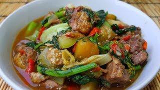 กับข้าวกับปลาโอ 522 : แกงอ่อมไก่ อ่อมอีสาน ผักเยอะๆ  Isan curry chicken with dill