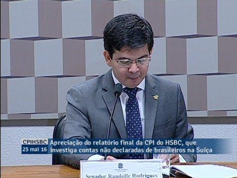 Randolfe Rodrigues apresenta voto em separado e afirma que a CPI do HSBC não atingiu objetivos