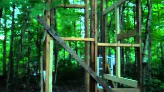 Building The Outhouse, Frame Is Built