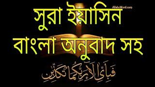 হৃদয় জুড়ানো তেলাওয়াত। সুরা ইয়াসিন। বাংলা অনুবাদ সহ/surah yasin Bangla translation