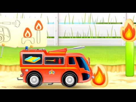 Fire Engine Truck Cartoon Mouse Adventure (NARRATED) ipad app demos for kids [소방차 핀]