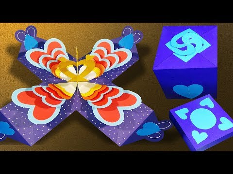 DIY Exploding Box Card | Explosion Paper Gift Box | Love Box Card |