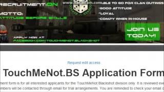 touchmenot blackshot recruitment form