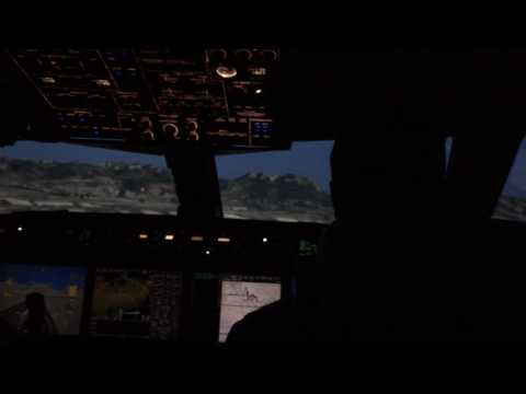 Honolulu Gulfstream G550 fly around Flight Safety Simulator
