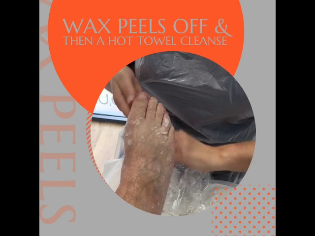 How is paraffin wax removed?