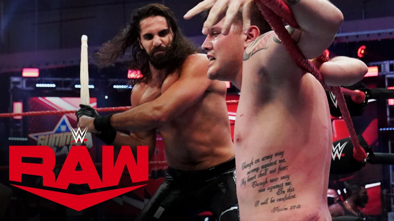 Download Seth Rollins & Murphy brutalize Dominik Mysterio with Kendo sticks: Raw, Aug. 10, 2020