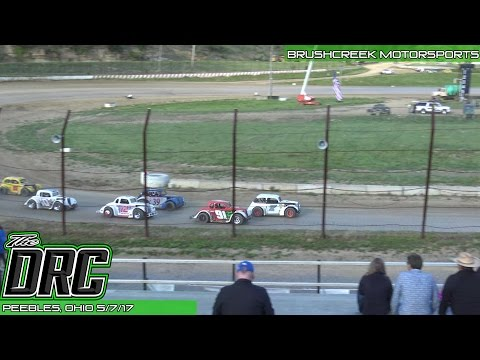 Brushcreek Motorsports Complex | 5.7.17 | Ohio Valley Roofers Legends Car Series | Heat 2