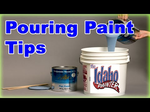 Pouring paint out of a 5 gallon bucket  No mess tip  Paint bucket hacks