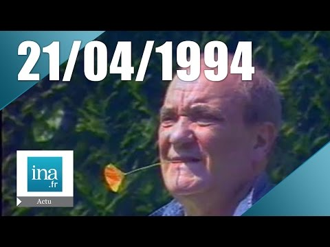 20h Antenne 2 du 21 avril 1994 - Mort de Jean Carmet | Archive INA