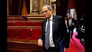 Torra usa el 'Parlament' para atacar a la justicia y defender a los CDR detenidos por terrorismo