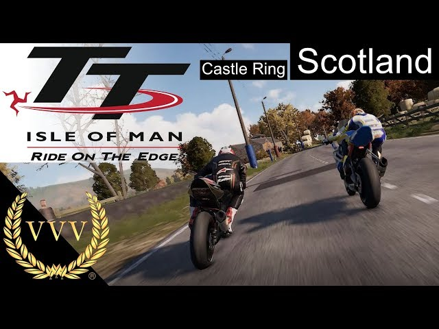 TT Isle of Man - Scotland Castle Ring Circuit,  Front Cam Gameplay