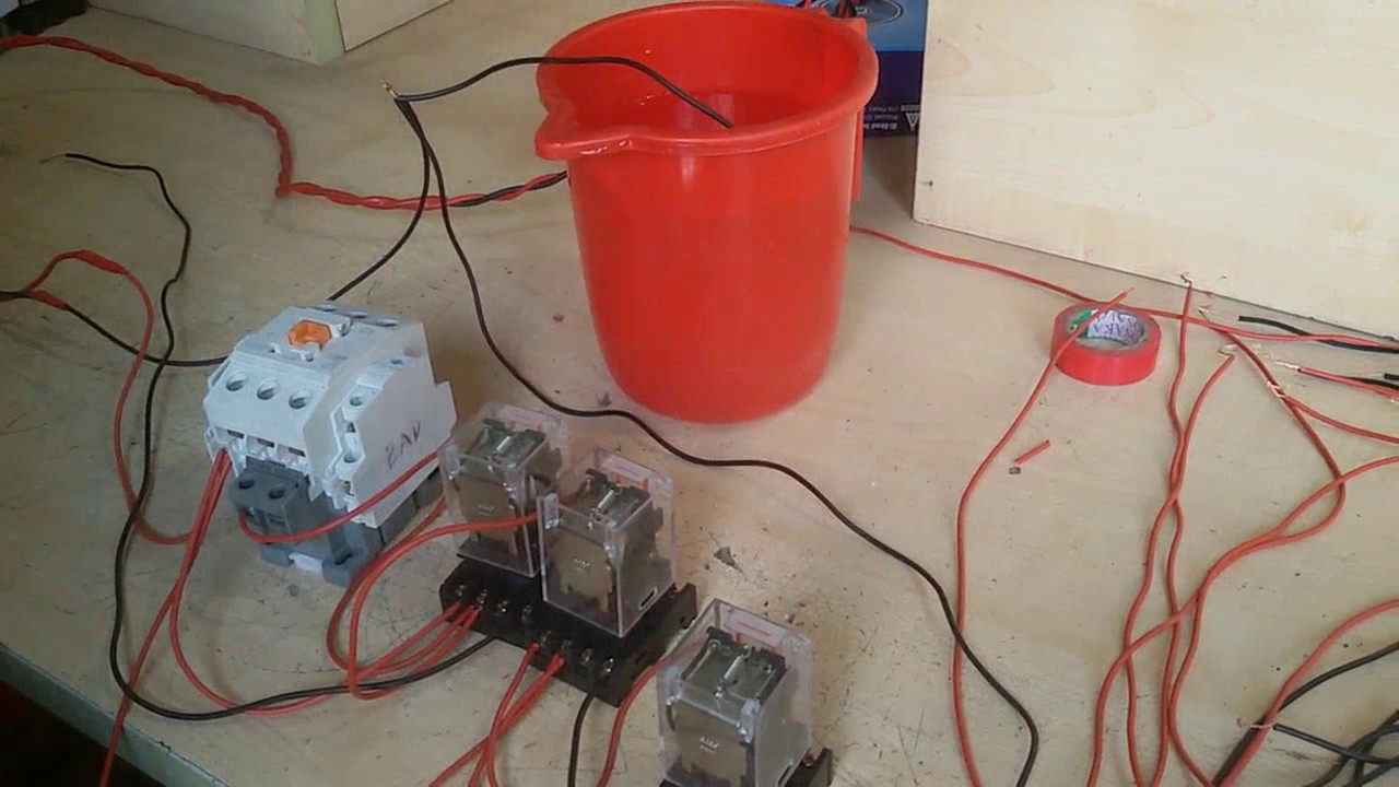 hight resolution of how to make water level indicator by use three magnetic contract relay youtube