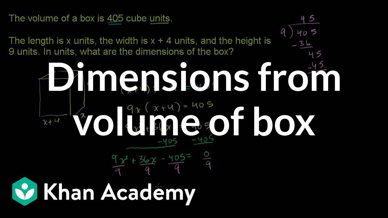 box dimension diagram [ 1280 x 720 Pixel ]