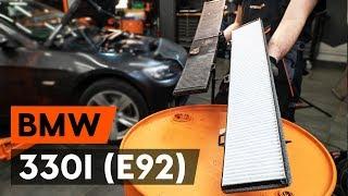 Salona filtrs uzstādīšana BMW 3 Coupe (E92): bezmaksas video