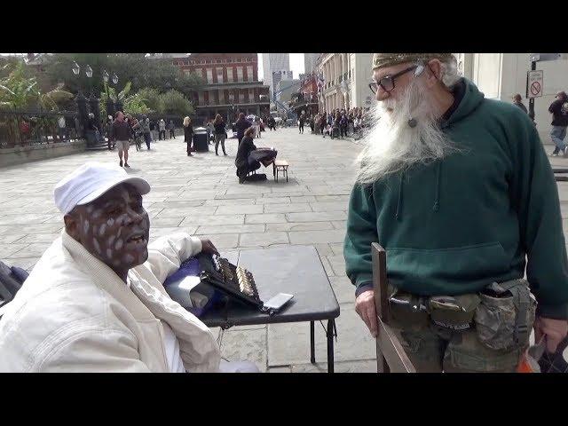 Street preacher meets Voodoo priest hustler!