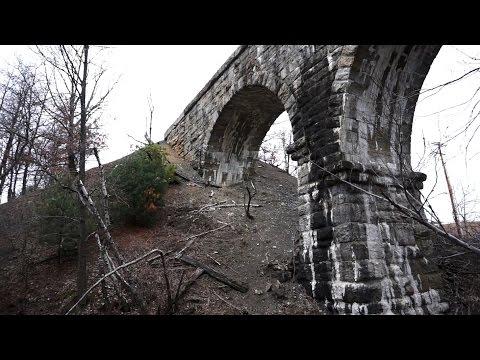 Wilkes-Barre / Hazleton Railroad / Trolley has 116 year old stone arch bridge