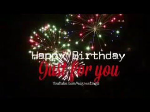 Happy Birthday Card With Music And Fireworks Youtube