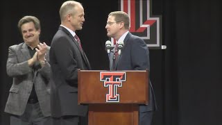 Texas Tech welcomes Matt Wells as head football coach