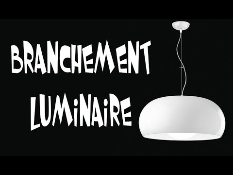 branchement luminaire youtube. Black Bedroom Furniture Sets. Home Design Ideas