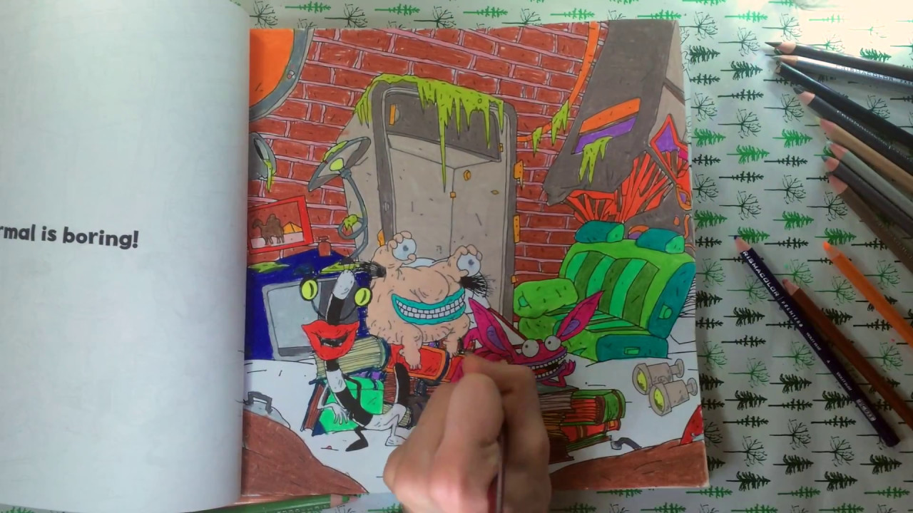 Color with me episode 26 the splat coloring the 90s nickelodeon time lapse prismacolor