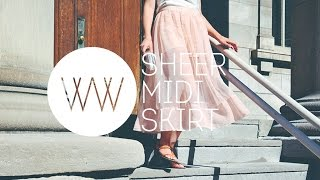 How to Make a Sheer Skirt | WITHWENDY