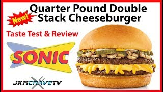 Sonic Drive-In Quarter Pound Stack Cheeseburger Taste Test & Review | JKMCraveTV