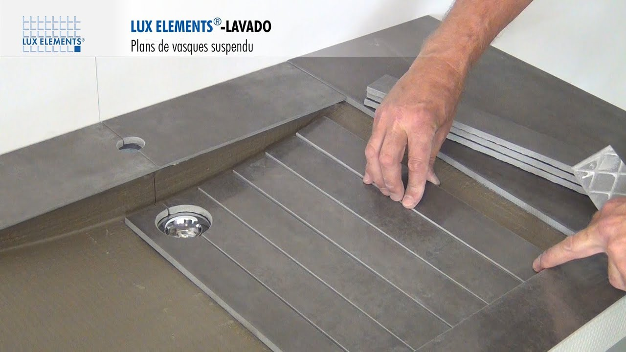 LUX ELEMENTS Montage : LAVADO - Plan de vasque - Design et Suspendu ...