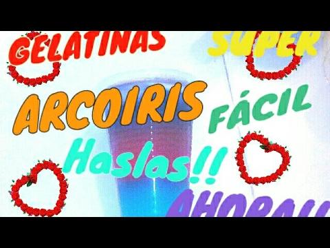 Has Unas Deliciosas Gelatinas Arcoiris!!