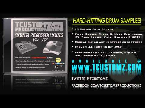 TCustomz Drum Sample Pack Vol. 4 - Hard-hitting Hip Hop Drum Samples, Drum Kit, Boom Bap, Sound Kits