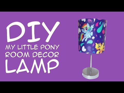 DIY My Little Pony Room Decor Rainbow Dash Lamp: (For MLP Fans) A Crafty McFangirl Tutorial