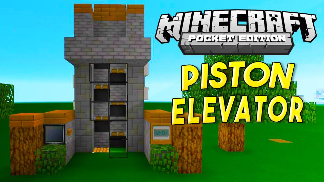Mcpe Redstone Tutorial Fast Piston Elevator Youtube