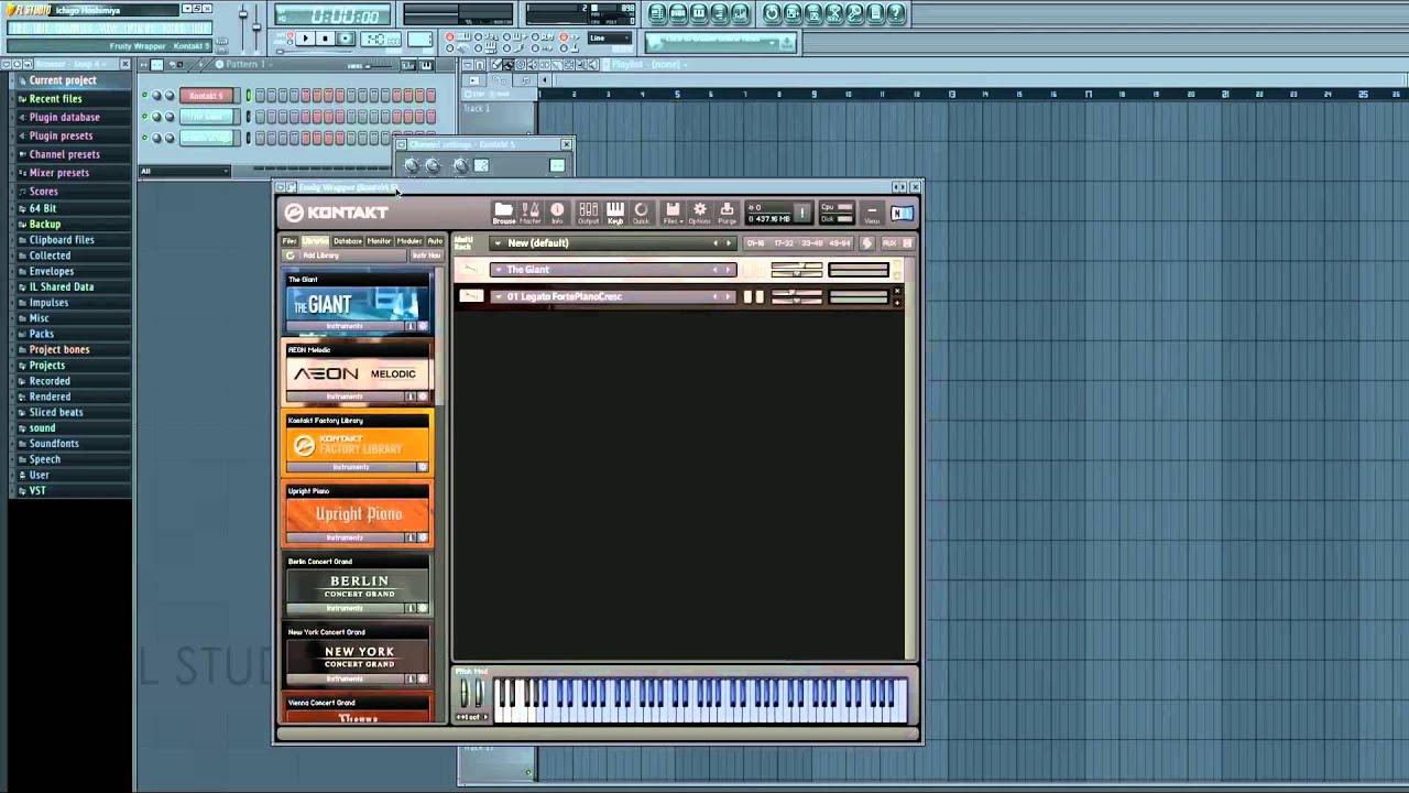 how to set up kontakt 5 in fl studio