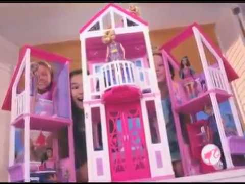 Casuta de papusi barbie california dream house youtube for California dream house