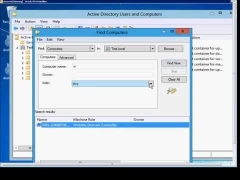 How to find computers in Active Directory in Microsoft Windows Server 2012