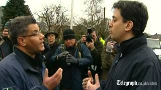 Ed Miliband confronted by local MP over floods