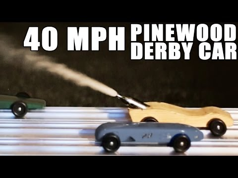 Thumbnail: 40 MPH Pinewood Derby Car- HOW TO