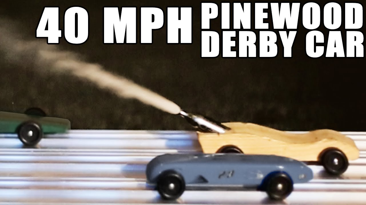 40 Mph Pinewood Derby Car How To Youtube
