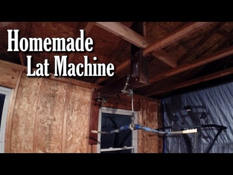 Homemade Lat Machine – Cheap Home Gym Equipment