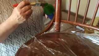 декупаж деревянного стула (Дачный Прованс-2). Шаг 1