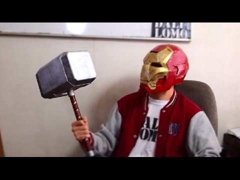 #84: Thor Hammer Part 2 - Cardboard Mjölnir DIY - Handle & Paint | Costume Prop | How To | Dali DIY
