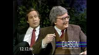 Chevy Chase Makes Fun of Siskel & Ebert on Johnny Carson