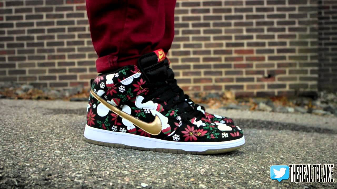 nike dunks ugly christmas sweater