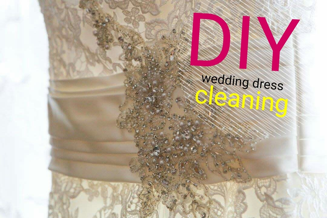 DIY Wedding Dress Cleaning #WeddingBells - YouTube