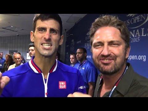Novak Djokovic and Gerard Butler - This is Sparta !! 😀 US Open 2018 winner!