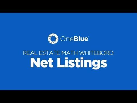 Net Listings - Florida Real Estate Math Whiteboard